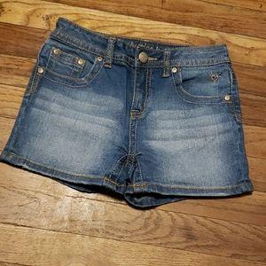 Justice jean shorts sz 14